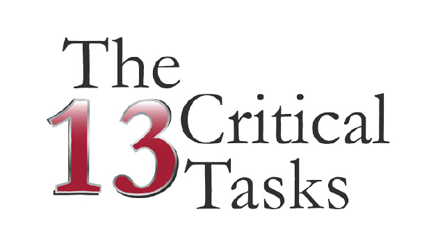 The 13 Critical Tasks, 3rd Edition